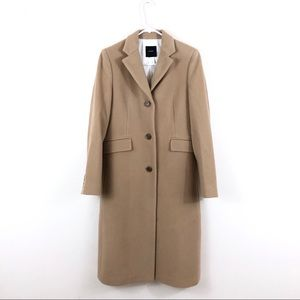 J. Crew Tan Camel Wool Cashmere Long Trench Coat